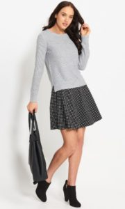 Dotti Knit Flip A-line Skirt