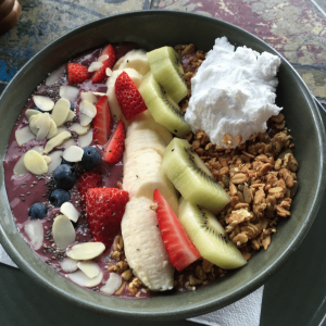 Yummy acai bowl blog post, style culture styling blog making healthy choices. Eat well, live well